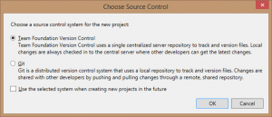 Choose Source Control